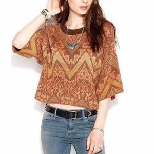 Free People Tribal Cosby Sweater L